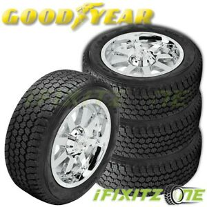4 Goodyear Wrangler A T Adventure With Kevlar 265 70r16 60k Mile Warranty Tires