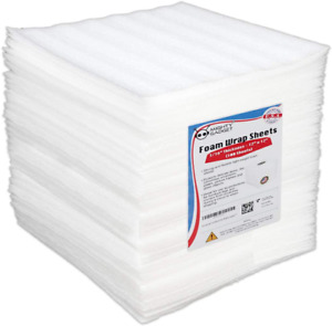 Foam Packing Wrap Sheets 12 X 12 Lightweight Moving Storage Shipping Supplies