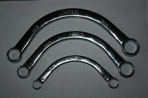 New Matco 12 Point Half Moon Obstruction Wrench Set 3 Pieces