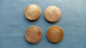 1940 s 50 s Cadillac Hubcap Center Medallions 4 Great