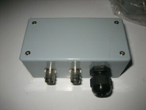 lot Of 9 Custom Twin Dual Bnc Weatherproof Junction Box With Terminal Blocks