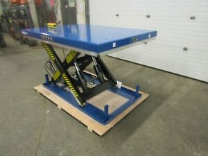 Bigblue Hydraulic Lift Table 48 X 68 X 36 Lift 8000lbs Capacity