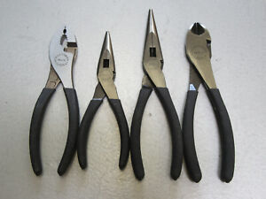 Craftsman Usa 4pc Pliers Diagonal Cutter Slip Joint Needle Nose Made In Usa