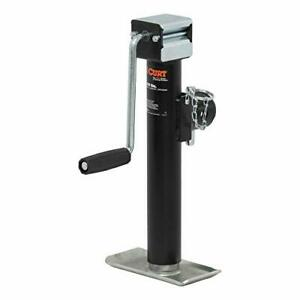 Curt 28354 Weld On Pipe Mount Swivel Trailer Jack 5 000 Lbs 10 Inches