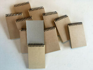 Lot Of 10 Memo Pads 2 75 X 4 50 Sheets Per Pad Top Spiral Unlined
