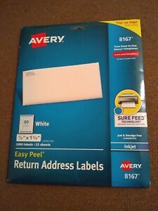 Avery 8167 Easy Peel Return Address Labels Sure Feed Technology 2000ct