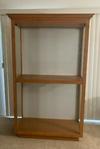Custom Made Wood glass Show Case Comes With 8 Adjustable Glass Shelves