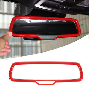 Car Interior Rearview Mirror Trim Ring Cover For Ford F150 2015 red A