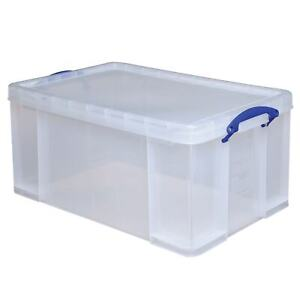 Really Useful Box Plastic Storage Container With Handles latch Lid 28 X 17 5