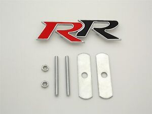 3d Metal Car Front Grille Grill Emblem Badge Logo Rr Type R