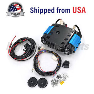 On Board 12v High Output Twin Air Compressor Kit Ckmta12 For Universal Tire