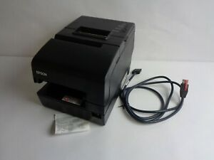 No Adapter Epson M253a Tm h6000iv Thermal Pos Printer W Power Plus And Cable