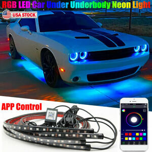 Rgb Led Car Neon Light Chassis Atmosphere Lamp Kit For Dodge Challenger Charger
