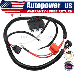 Brand New Electric Dual Fan Upgrade Wiring Harness For 1999 2006 Ecu Control