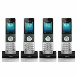 Yealink W56h Bundle Of 4 Ip Dect Voip Phone Handset Hd Voice Quick Charge Read