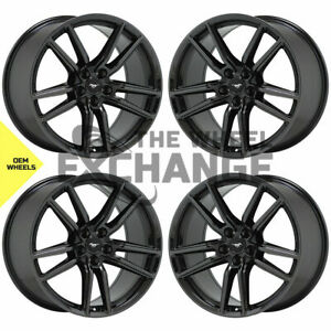 20x11 Ford Mustang Gt500 Black Chrome Wheels Rims Factory Oem 2020 2021 Set 4