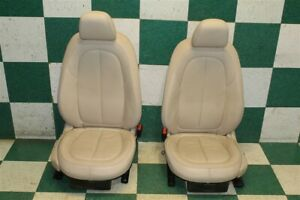 16 19 X1 Tan Leather Power Heated Driver Passenger Front Bucket Seats Hot Rod