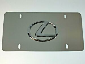 3d Lexus Logo Mirror Chrome Stainless Steel Front License Plate Caps