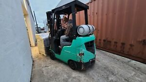 Mitsubishi Lp Forklift 3000lb Side Shifter Only 1100 Hours