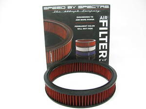 Spectre Hpr2606 Red High Flow 9 x2 Round Performance Air Filter washable