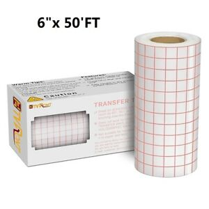 6 x 50 ft Vinyl Transfer Tape Roll Craft Application Paper For Signs Stickers