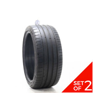 Set Of 2 Used 255 35zr19 Michelin Pilot Super Sport 96y 7 5 32
