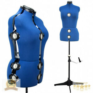 Adjustable Dress Form Mannequin Sewing Dress Display Stand Female Body Middle