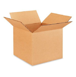 100 7x7x6 Cardboard Paper Boxes Mailing Packing Shipping Box Corrugated Carton