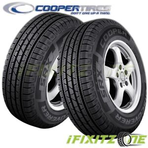 2 Cooper Discoverer Srx 245 60r18 105h All Season M S Touring Tires For Cuv Suv
