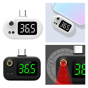 Mini Usb Cell Phone Infrared Thermometer Non contact Type c Lcd Display