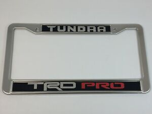 Toyota Tundra Trd Pro Mirror Chrome Stainless Steel License Plate Frame Cap