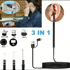 3 In1 Ear Cleaning Endoscope Usb 5 5mm Visual Earpick Camera Spoon Otoscope