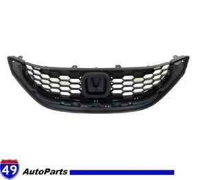 Honda Civic Sedan 2013 2015 Front Bumper Upper Grille New Ho1200216