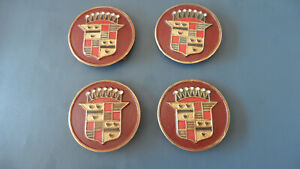 1941 40 S 50 S Cadillac Hubcap Center Medallions 4 Great