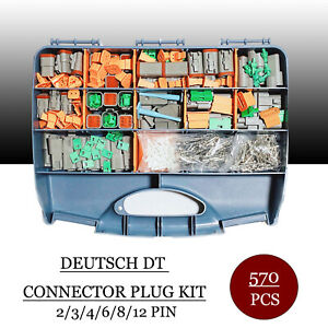 570 Pcs Grey Deutsch Dt Connector Kit Stamped Contacts Removal Tools