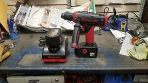 Snap On 18v 1 2 Cordless Drill Driver W 2 Batteries Dual Charger