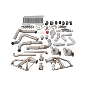 Cxracing Twin Turbo Manifold Intercooler Kit For 67 76 Dodge Dart Small Block