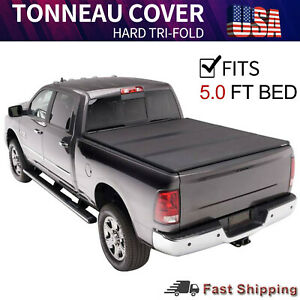 Hard Tri Fold Tonneau Cover For 2016 2021 Toyota Tacoma Truck Bed 5 Ft Truck Bed