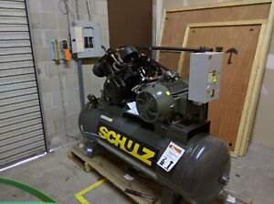 Schulz L series 20120hlv80br 3 20 hp 120 gallon 80 Cfm Two stage Air Compressor