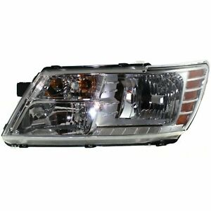 New 2009 2020 Dodge Journey Driver Side Headlight With Chrome Housing With Bulbs