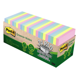 Post it Notes recycled 3 x3 75 Sht pd 24 pk ast Helsinki
