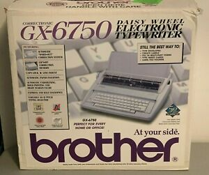 Brother Gx 6750 Correctronic Electronic Daisy Wheel Typewriter New In Open Box