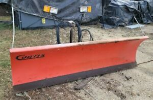 Curtis 7 6 Plow W Sno Pro 3000 Hitch Run System And Meyers Mini Salter
