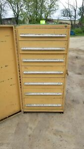 Stanley Vidmar 7 Drawer Industrial Tooling Cabinet W swing Dr Cover 30 x30 x60