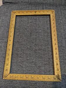 Vintage Baroque Style Gesso Gold Picture Frame