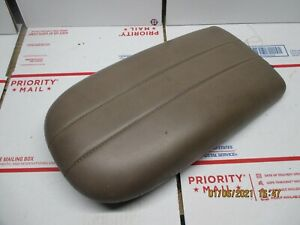 1997 2001 Ford Expedition Navigator Center Console Lid Arm Rest Brown Leather A3