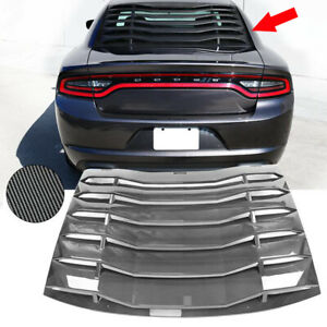 For 2011 2020 Dodge Charger Rear Window Louver Cover Vent Carbon Color Abs