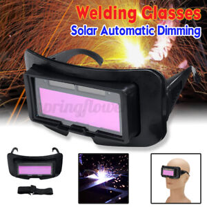 Solar Auto Darkening Welding Goggle Helmet Tig Mig Welder Glasses Eye Protection