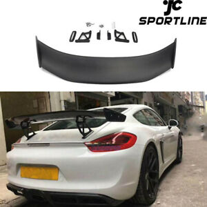 Fit For Porsche Cayman Boxster 981 Gt4 Racing Rear Trunk Spoiler Tail Wing Lip