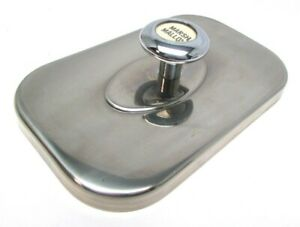 Vintage Soda Fountain Ice Cream Topping Dispenser Stainless Top Lid Marshmallow